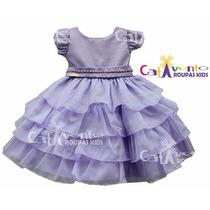 Vestido De Festa Infantil Tema Princesa Sofia Com Tiara