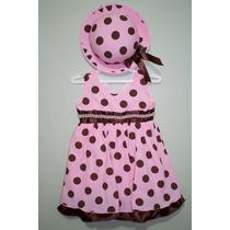 Vestido Fantasia Infantil Pintadinha Com Chapéu 1 A 3 Anos