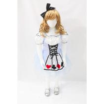 Fantasia Vestido Princesa Alice No País Da Maravilhas