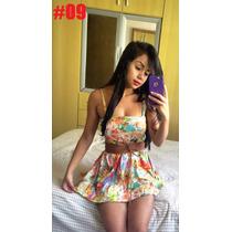 Vestido Florido Bege Cinto De Brinde #09
