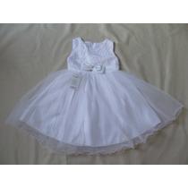Vestido Infantil Festa/ Casamento/florista Branco Renda