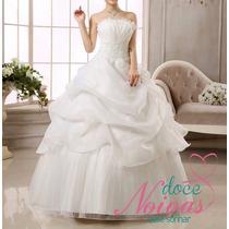 Vestido De Noiva Debutante Slim Pronta Entrega Trash Barato