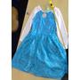 Vestido Fantasia Frozen Elza Azul Com Calda