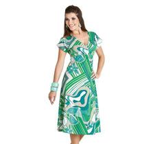 Vestido Estampado Em Algodão - 309863