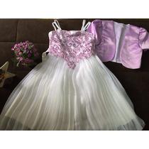 Vestido Infantil Festa Bordado Aniversário Casamento Lindo