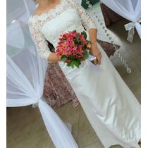 Vestido Noiva Modelo Classico Tamanho M