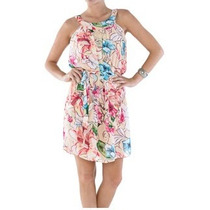 Vestido Belle & Bei Corte Amplo Estampa Florida-frete Grátis