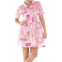 Vestido Belle & Bei Chemisier Estampado Rosa - Frete Grátis