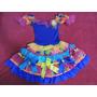 Vestido Capirinha Festa Junina Luxo Tamanho 8 Lindo!