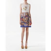 Vestido Floral Zara Coleção De Verão Tamanho P