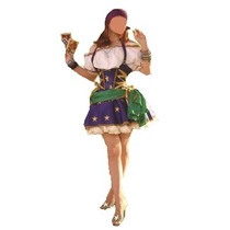 Fantasia Cigana Esmeralda Super Luxo Nac Tam. G ( 40 A 42)