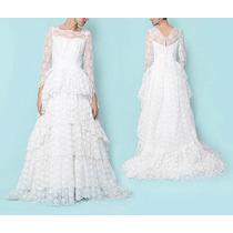 Vestido De Noiva Estilo Vintage Em Camadas Com Renda E Tule