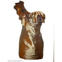 70% Off Vestido Importado Cor Bronze / Tam M