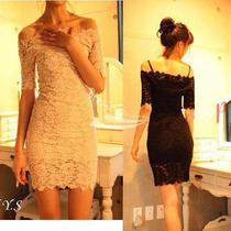 Vestido Importado Renda Sexy Chique Luxo Promoção