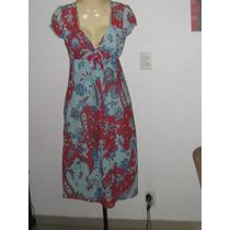 Vestido Estampa Floral Tamanho 42 Collins