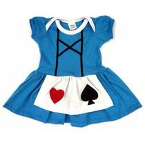 Vestido Alice No País Das Maravilhas Fantasia Infantil