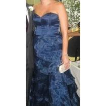 Lindo Vestido De Festa Azul Marinho Tamanho 40