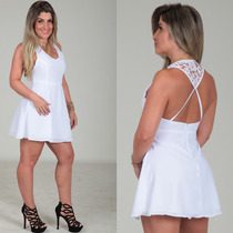 Vestido Evasê Crepe Rodado Princesa Est Labellamafia Panicat