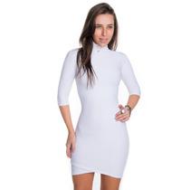 Vestido Justo De Gola Alta - Kam Bess - Ve1294
