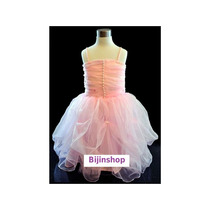 Vestido Infantil Festa Princesa/ Bailarina Rosa