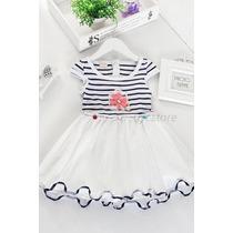 Vestido Infantil Renda Tule Casual Festa