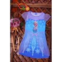 Vestido Princesa Elsa Frozen - No Brasil - Envio Imediato