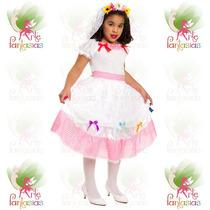 Vestido Junino Noiva Caipira Infantil Noivinha Festa Junina