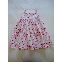 Vestido Menina Importado Festa Rodado Branco Poas Rosa 5 Ano