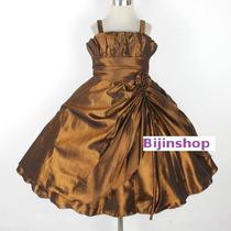 Vestido Infantil Princesa/daminha Varias Cores Tam 4,6,8,10