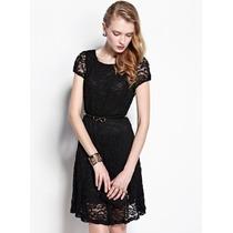 Vestido Gg Modelo Importado Feminino Casual Elegante Renda