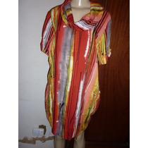 Vestido Estampado Gola Boba T.g/ Viscose