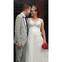 Vestido De Noiva Bordado À Mão Com Pérolas De Vidro Tchecas