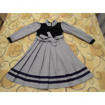 Vestido Infantil 10 Anos Xadrez Preto / Branco Otimo Estado