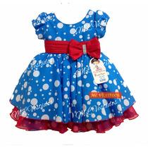 Vestido Infantil Galinha Pintadinha Deluxe - Tam 1 / 3