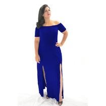 Vestido Longo Gisp Cigana Aberto Na Perna Fenda - Preto