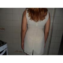 Vestido Curto Tipo Boutique Acinturado Tubinho 42
