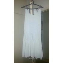 Vestido Lurex Branco Com Brilho