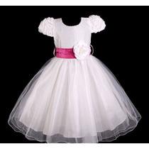 Vestido Infantil Festa/dama/florista Laço Varias Cores