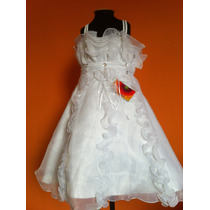 Vestido Infantil Festa/princesa/dama Amarelo Ou Branco