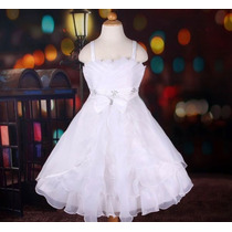 Vestido Infantil Festa/ Princesa/dama Lindo Com Cristais