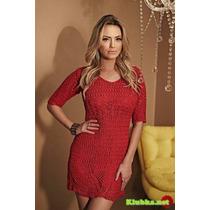 Vestido Croche Vermelho