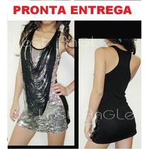 Lindo Vestido De Festa Fashion Com Paetes A Pronta Entrega