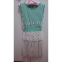 Vestido Infantil Importado Tamanho 04 (veste Ate 06 Anos)