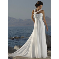 Vestido De Noiva Luxo Chiffon Importado Pronta Entrega
