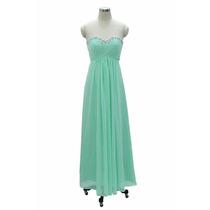 Vestido De Noite De Festa De Chifon Verde