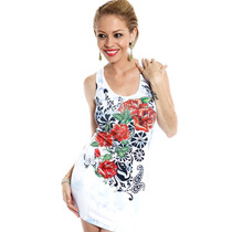 Roupas Femininas Vestido Curto Casual Festa Importado Rf1026