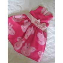 Vestido Festa Peppa Pig Rosa