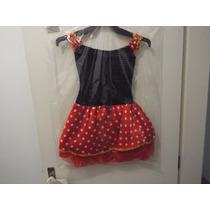 Vestido Infantil Fantasia Minie Tutu Com Tiara