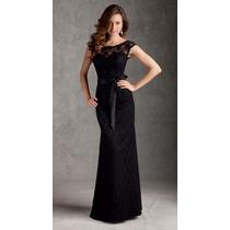 Vestido Gg Importado Longo Clássico Elegante Romântico Renda