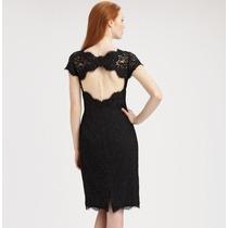 Vestido M- Importado Sexy Elegante Clássico Em Renda Preta